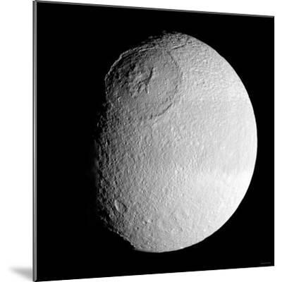 Saturn's Moon Tethys-Stocktrek Images-Mounted Photographic Print
