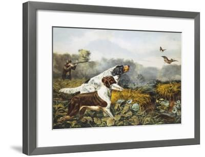 American Field Sports, a Chance For Both Barrels-Currier & Ives-Framed Giclee Print