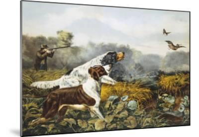 American Field Sports, a Chance For Both Barrels-Currier & Ives-Mounted Giclee Print
