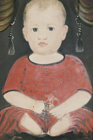 Portrait of Baby Woods, c.1840-William Matthew Prior-Stretched Canvas Print
