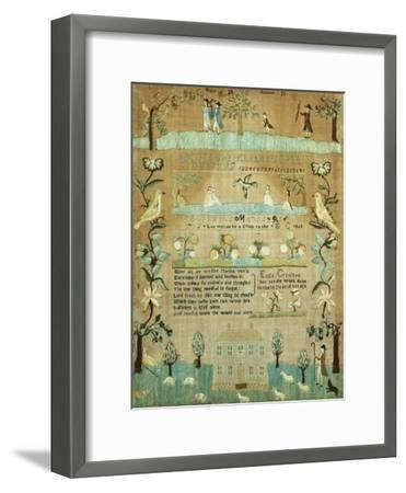 Fine Needlework Sampler. Probably Newport, Rhode Island, 1803--Framed Giclee Print