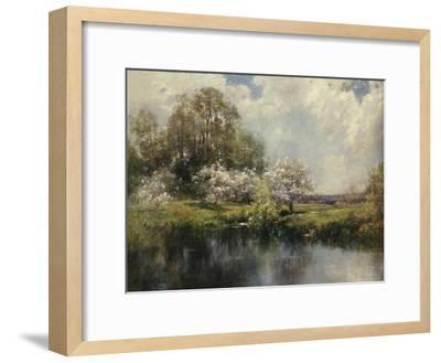 Apple Trees in Blossom-John Appleton Brown-Framed Giclee Print
