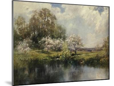 Apple Trees in Blossom-John Appleton Brown-Mounted Giclee Print