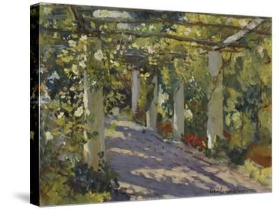 Sun Dappled Garden with Trellis-Colin Campbell Cooper-Stretched Canvas Print