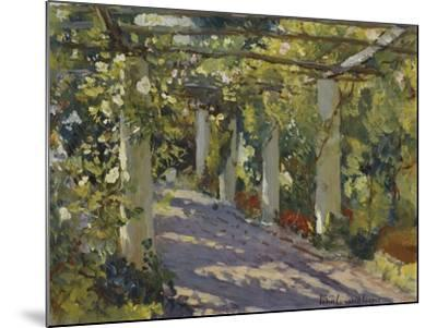 Sun Dappled Garden with Trellis-Colin Campbell Cooper-Mounted Giclee Print