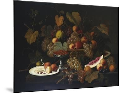 Still Life with Fruit, 1852-Severin Roesen-Mounted Giclee Print