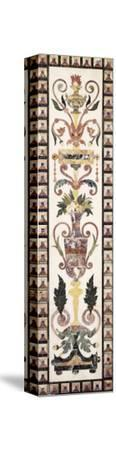 Italian Pietre Dura Inlaid White Marble Panel, Early 18th Century--Stretched Canvas Print