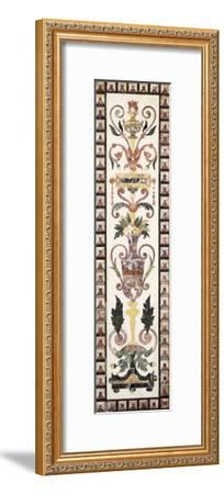 Italian Pietre Dura Inlaid White Marble Panel, Early 18th Century--Framed Giclee Print