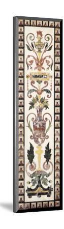 Italian Pietre Dura Inlaid White Marble Panel, Early 18th Century--Mounted Giclee Print