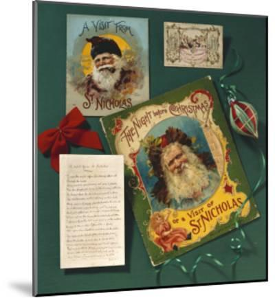 Visit from St. Nicholas, The First Commercial Christmas Greeting Card, London, c.1860--Mounted Giclee Print