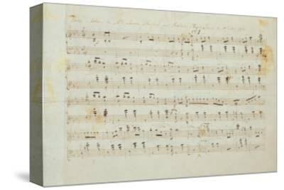 Autographed Manuscript Signed and Dedicated of the Grande Valse Brilliante, Opus 18 in E Flat Major-Fryderyk Chopin-Stretched Canvas Print