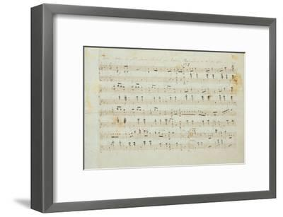 Autographed Manuscript Signed and Dedicated of the Grande Valse Brilliante, Opus 18 in E Flat Major-Fryderyk Chopin-Framed Giclee Print
