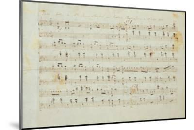 Autographed Manuscript Signed and Dedicated of the Grande Valse Brilliante, Opus 18 in E Flat Major-Fryderyk Chopin-Mounted Giclee Print