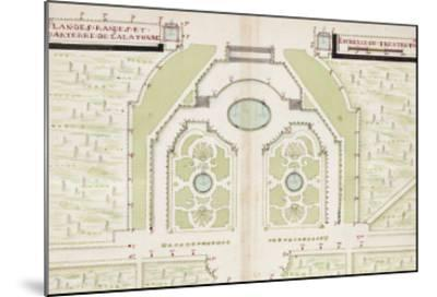 Versailles, Manuscript Plans of the Gardens of Versailles, c.1688-1711--Mounted Giclee Print