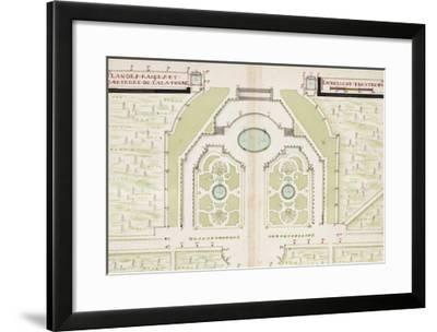 Versailles, Manuscript Plans of the Gardens of Versailles, c.1688-1711--Framed Giclee Print