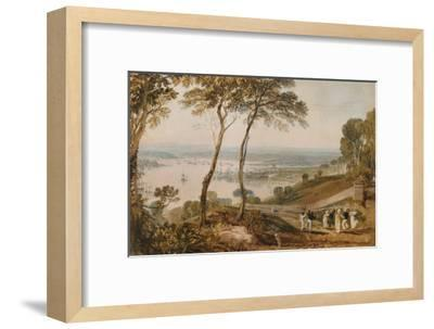 Plymouth Dock, from Near Mount Edgecumbe, 19th Century-J^ M^ W^ Turner-Framed Giclee Print