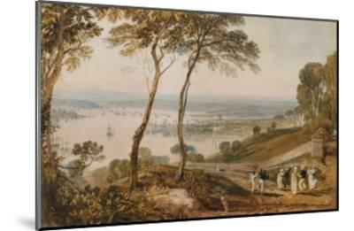 Plymouth Dock, from Near Mount Edgecumbe, 19th Century-J^ M^ W^ Turner-Mounted Giclee Print