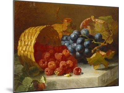 Still Life with Raspberries and a Bunch of Grapes on a Marble Ledge, 1882-Eloise Harriet Stannard-Mounted Giclee Print