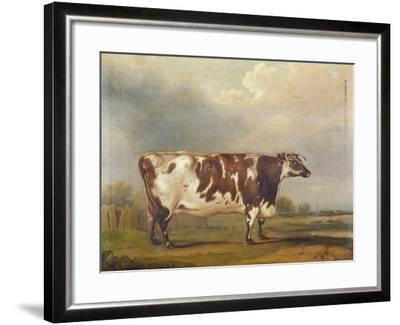 Wildair' an Eight-Year-Old Heifer in a River Landscape, 1827-Thomas Weaver-Framed Giclee Print