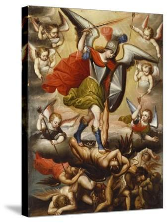 St Michael the Archangel. Cuzco School, 17th Cent, c.1675-Diego Quispe Tito-Stretched Canvas Print