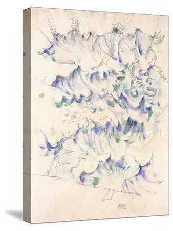Waves. Wellen. Egon Schiele. Gouache and Pencil on Buff Paper, 1912-Egon Schiele-Stretched Canvas Print