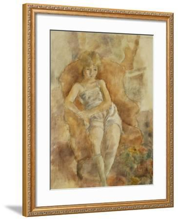 Young Boy Seated, Jeune Fils Assise-Jules Pascin-Framed Giclee Print