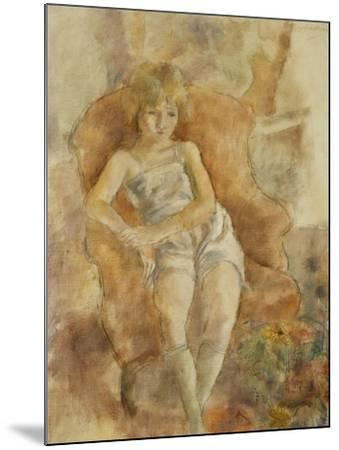 Young Boy Seated, Jeune Fils Assise-Jules Pascin-Mounted Giclee Print