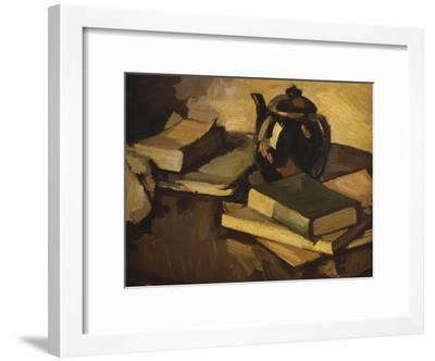 Still Life with a Teapot and Books on a Table, c.1926-Samuel John Peploe-Framed Giclee Print