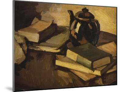 Still Life with a Teapot and Books on a Table, c.1926-Samuel John Peploe-Mounted Giclee Print