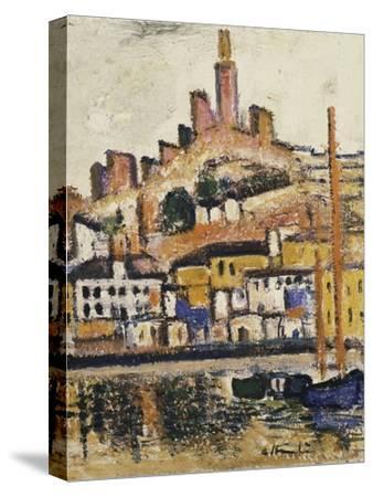 Marseilles-George Leslie Hunter-Stretched Canvas Print