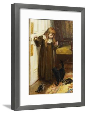 Playing with the Kittens, 1897-Edith Grey-Framed Giclee Print