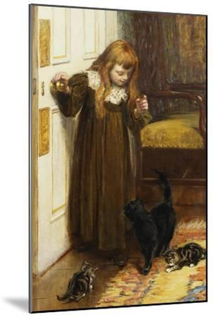 Playing with the Kittens, 1897-Edith Grey-Mounted Giclee Print