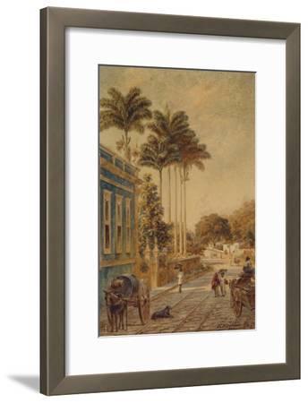 Street Scene, Rio de Janeiro, 1879-Bernhard Wiegandt-Framed Giclee Print