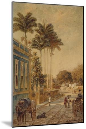 Street Scene, Rio de Janeiro, 1879-Bernhard Wiegandt-Mounted Giclee Print