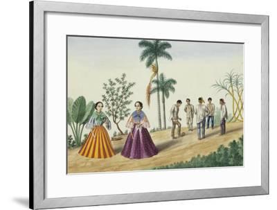 Manila and Its Environs: Filipinos Playing Football-Jose Honorato Lozano-Framed Giclee Print