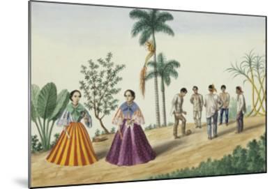 Manila and Its Environs: Filipinos Playing Football-Jose Honorato Lozano-Mounted Giclee Print