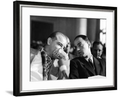 Sen. Joseph R. McCarthy Talking with His Lawyer Roy M. Cohn in the Army-McCarthy Hearings-Yale Joel-Framed Photographic Print