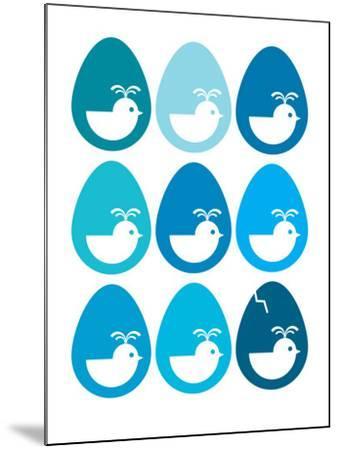 Blue Egg Hatching-Avalisa-Mounted Art Print