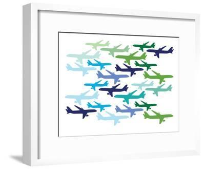 Airplane Pattern-Avalisa-Framed Art Print