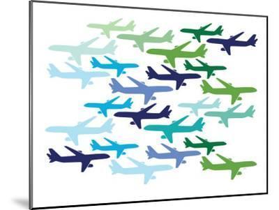 Airplane Pattern-Avalisa-Mounted Art Print