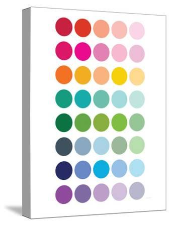 Rainbow Dots-Avalisa-Stretched Canvas Print