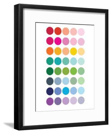Rainbow Dots-Avalisa-Framed Premium Giclee Print