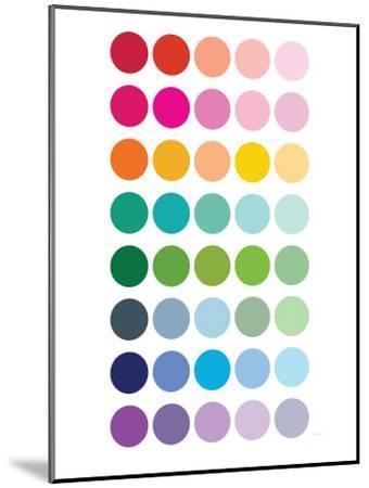 Rainbow Dots-Avalisa-Mounted Premium Giclee Print