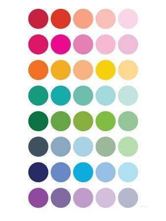 Rainbow Dots-Avalisa-Art Print