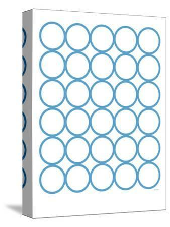 Blue Circles-Avalisa-Stretched Canvas Print
