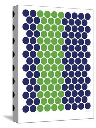 Blue Green Dots-Avalisa-Stretched Canvas Print