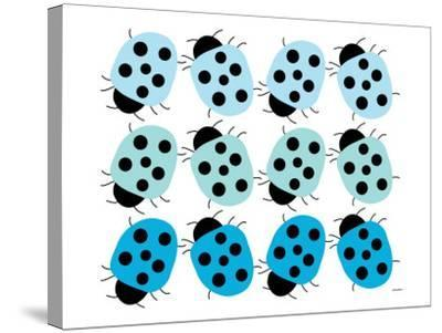 Blue Lady Bug Family-Avalisa-Stretched Canvas Print