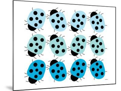 Blue Lady Bug Family-Avalisa-Mounted Art Print