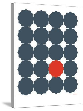 Blue Red Cut-out-Avalisa-Stretched Canvas Print