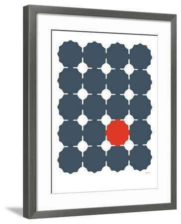 Blue Red Cut-out-Avalisa-Framed Art Print
